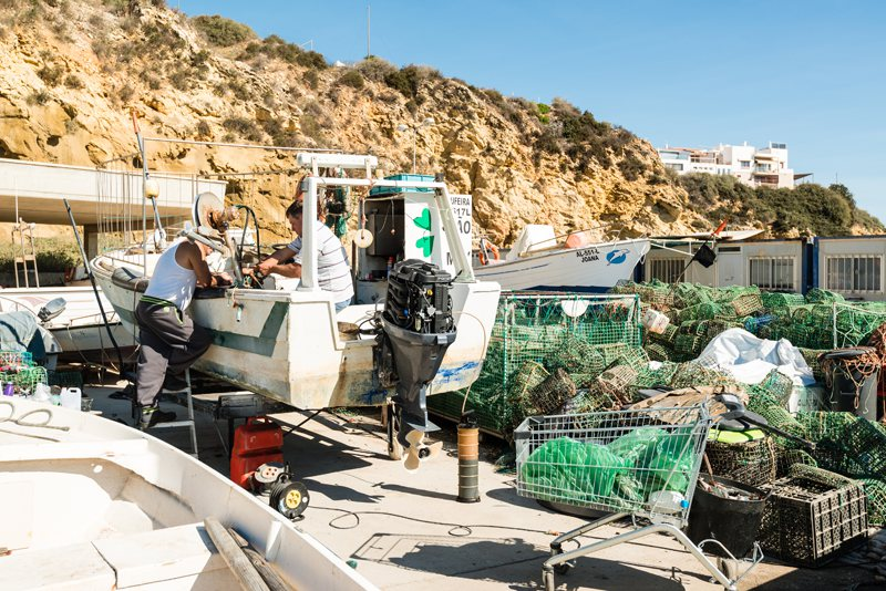 albufeira fishing village