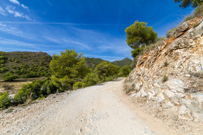 The wide track leading up to the peack of El Cielo, Nerja