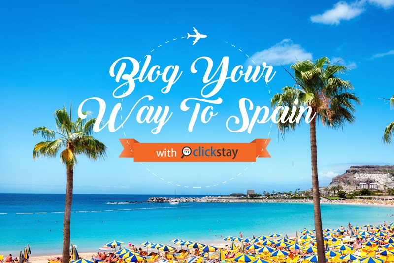 Blog your way to Spain competition logo