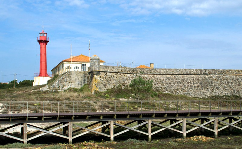 Fort and lighthouse, Esposende, Portugal. Photography by Julie Dawn Fox
