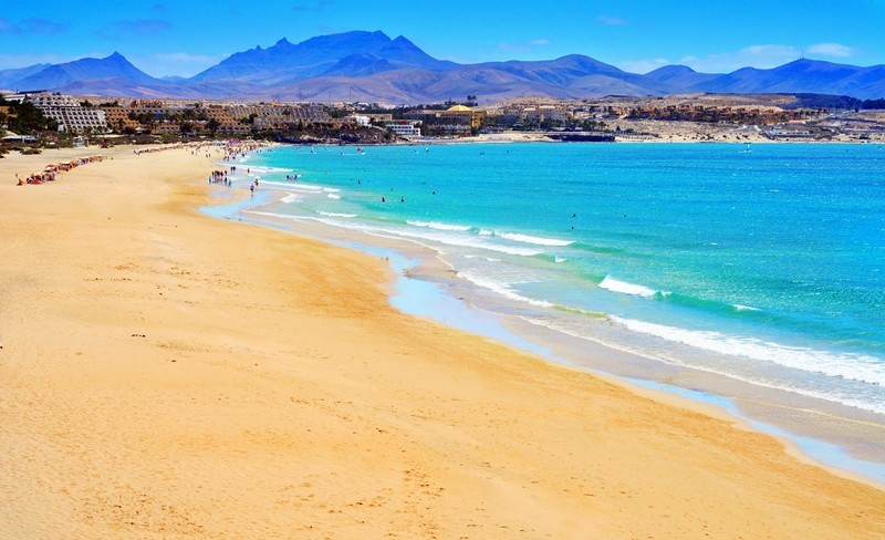 Golden beach in Fuerteventura, Spain