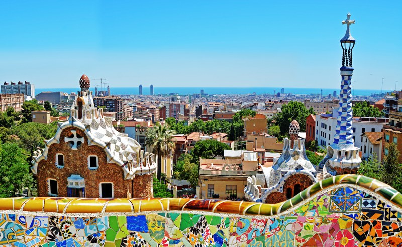 Beautiful Barcelona Spain view of the city