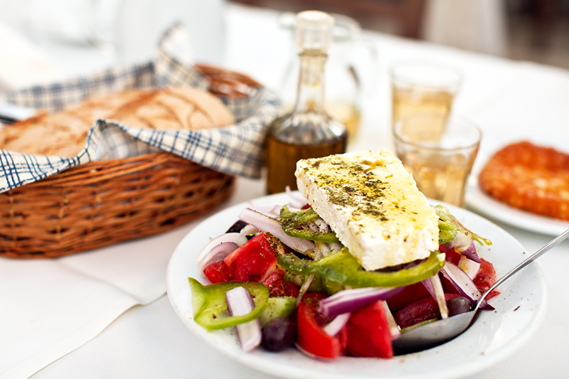 Greek food in Kefalonia