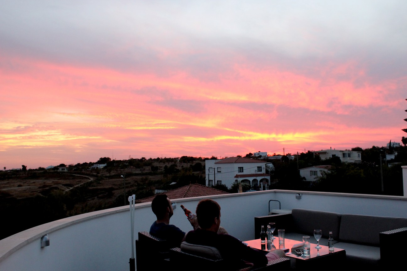 sunset in the villa in fuseta