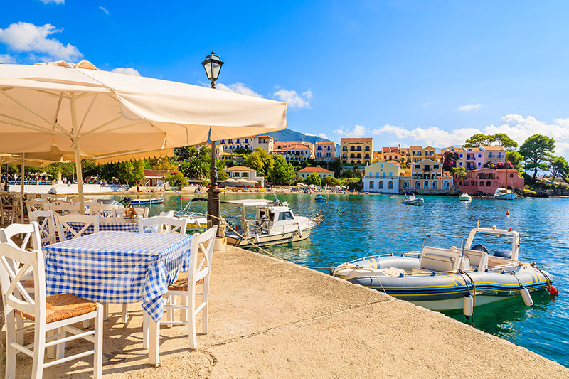 Restaurants in Kefalonia, Greece