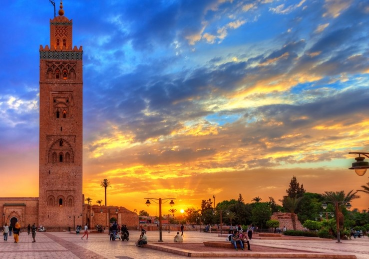 Koutoubia Mosque in Marrakech, Morocco