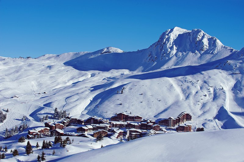 La Plagne ski resort, France