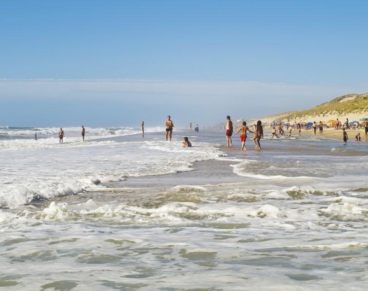 Lacanau beach in France