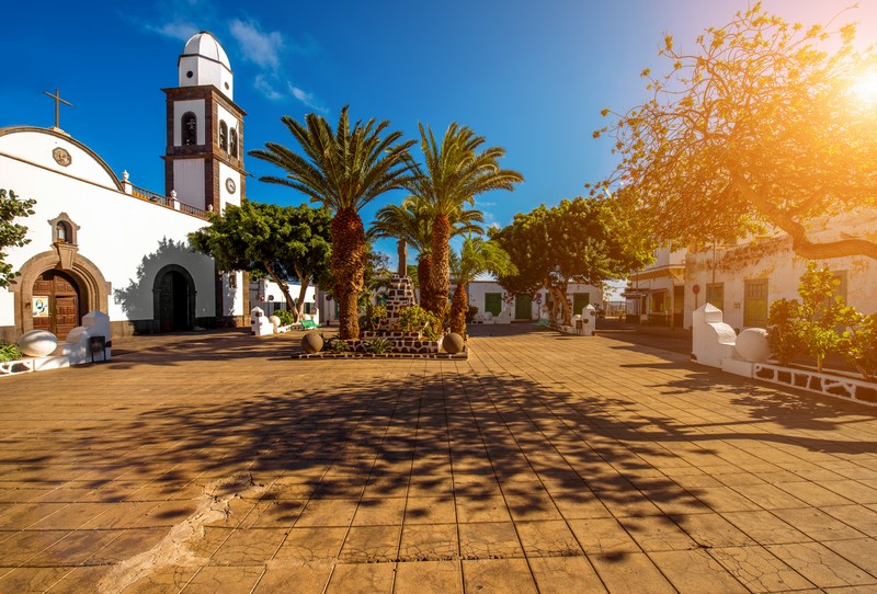 Town square in Lanzarote