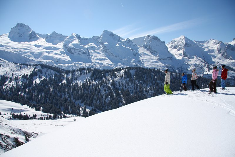 Le Grand Bornard ski resort, France