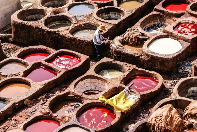 Leather Tannery Marrkech Morocco