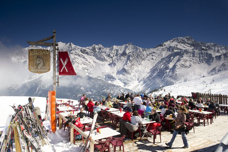 Les Contamines ski resort, France