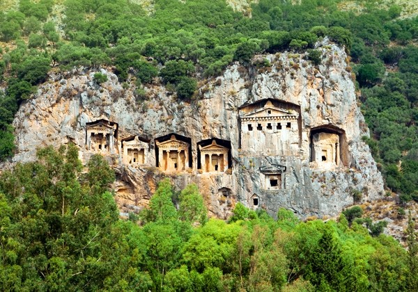 Lycian Tombs in Kaunos near Dalyan