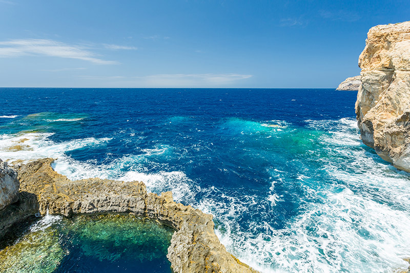 The former Azure Window in Malta