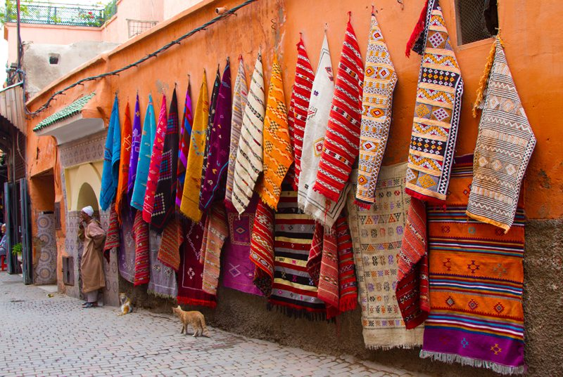 Berber rugs and carpets Marrakech Souks