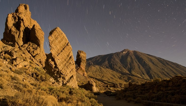 Mount Teide at night