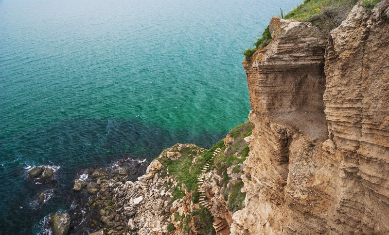 Kaliakra nature reserve on the Black Sea Coast