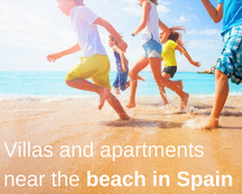 Villas and apartments near the beach in Spain