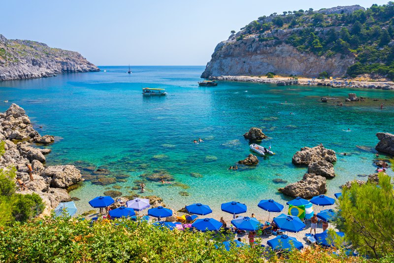 Anthony Quinn Bay, Beaches in Rhodes