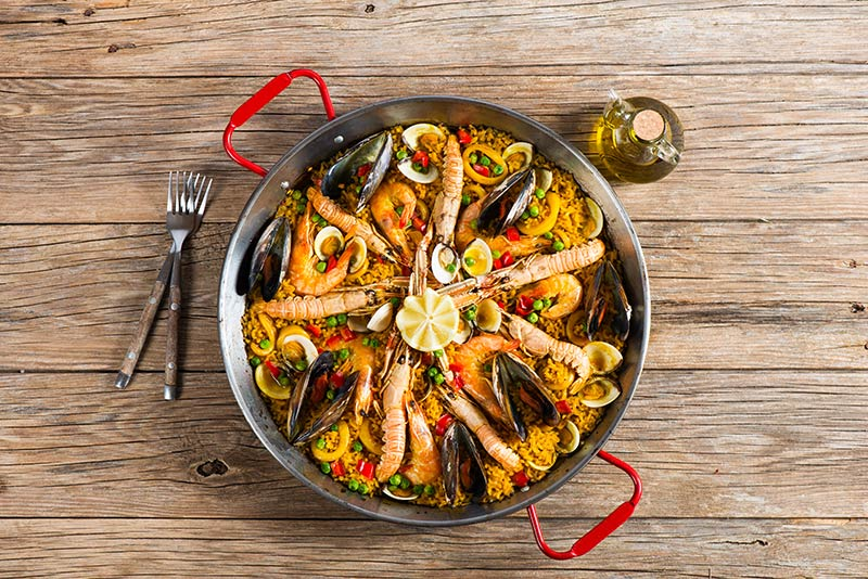 Paella Traditional Spanish Food Majorca