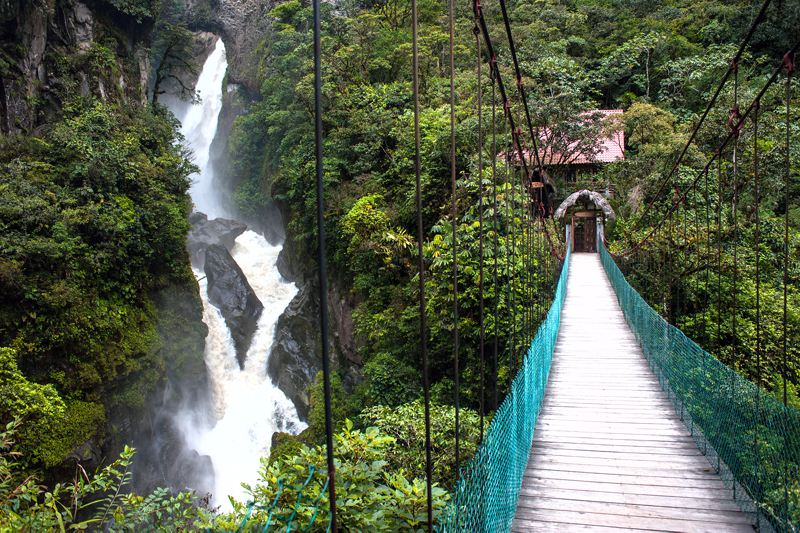 The Andes Ecuador Waterfall