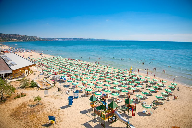 Golden Bay beach in Bulgaria