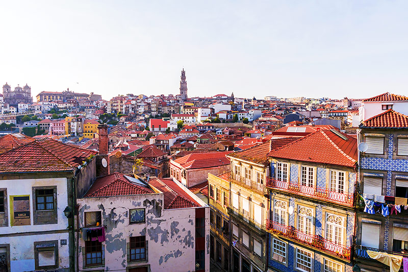 Skyline of Porto in Portugal