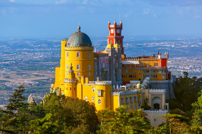Pena Palace in Sintra, Lisbon, Portugal