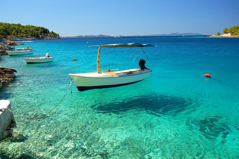 Crystal clear water in Croatia