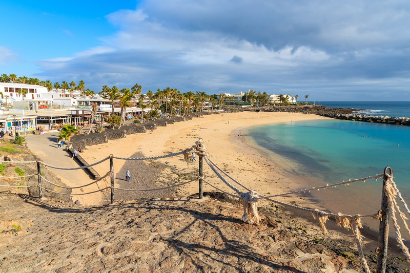 Playa Flamingo, a few minutes walk to the west of the town of Playa Blanca, Lanzarote