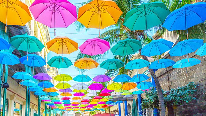 Port Louis umbrellas
