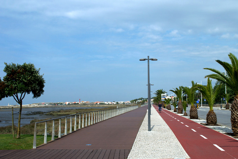 Promenade and cycle path, Esposende, Portugal. Photography by Julie Dawn Fox
