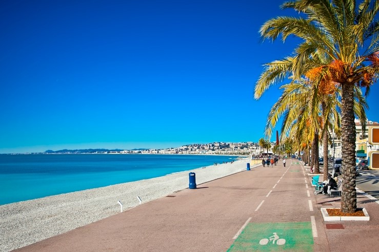 Promenade des Anglais, Nice in France