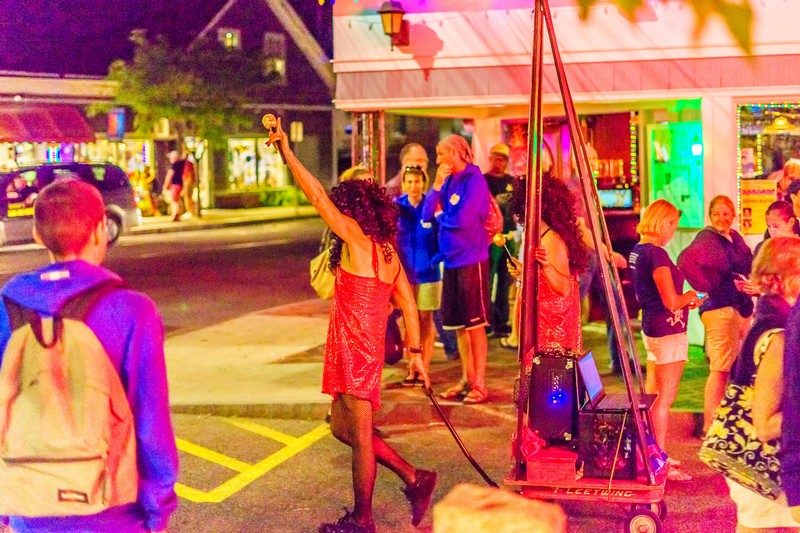The nightlife in Provincetown, Massachusetts, USA