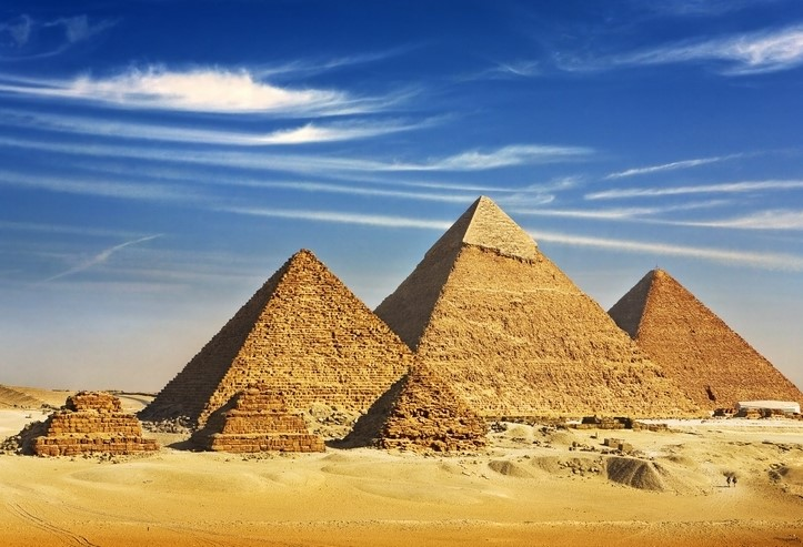 Ancient pyramids in Egypt