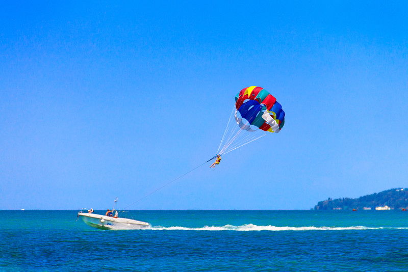 Parasailing in the Canary Islands