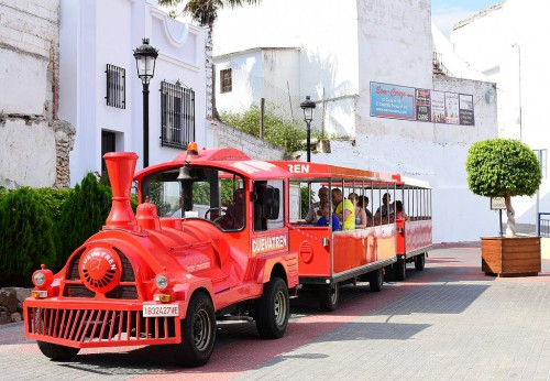 The tourist train, Cueva Tren, in Nerja