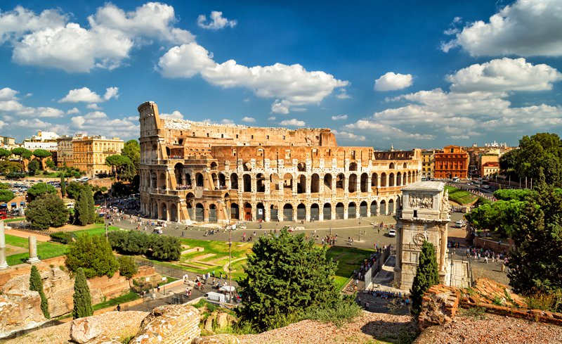 UNESCO protected centre of Rome, Italy