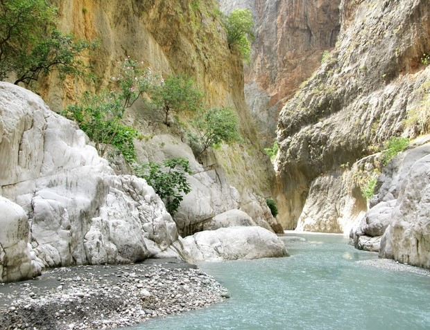 Saklikent Gorge, the deepest canyon in Turkey