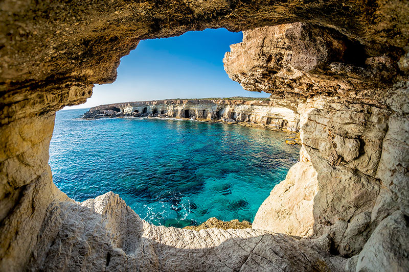 Sea caves, Aiya Napa
