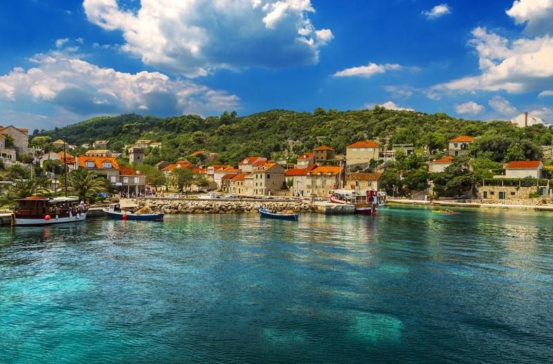 Sipan Island near Dubrovnik, Croatia