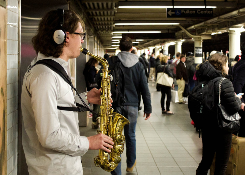 Music in the subway, New york