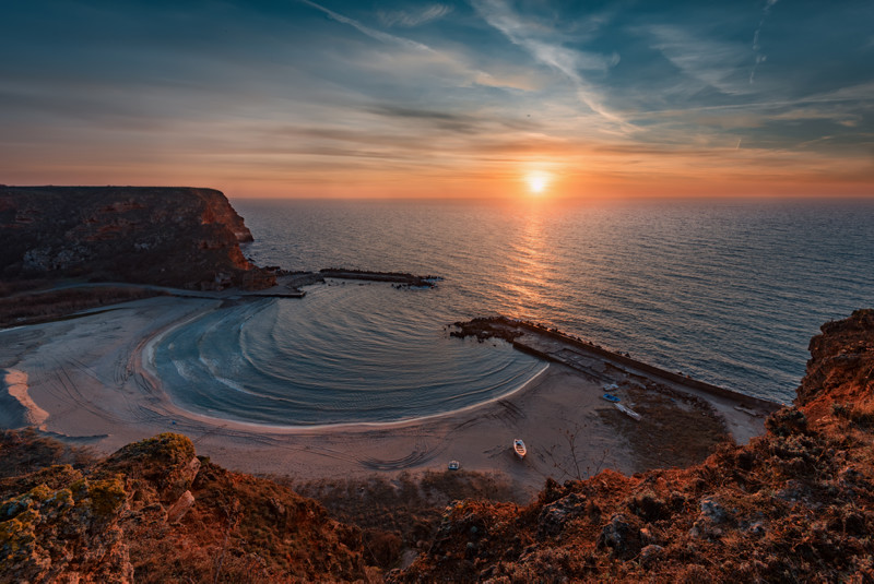 Bolata Bay sunrise in Bulgaria
