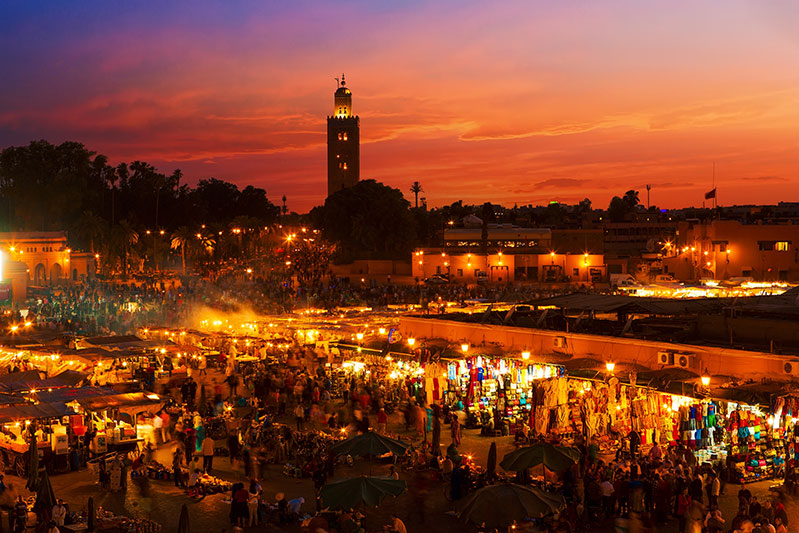 Sunset Marrakesh, Morocco