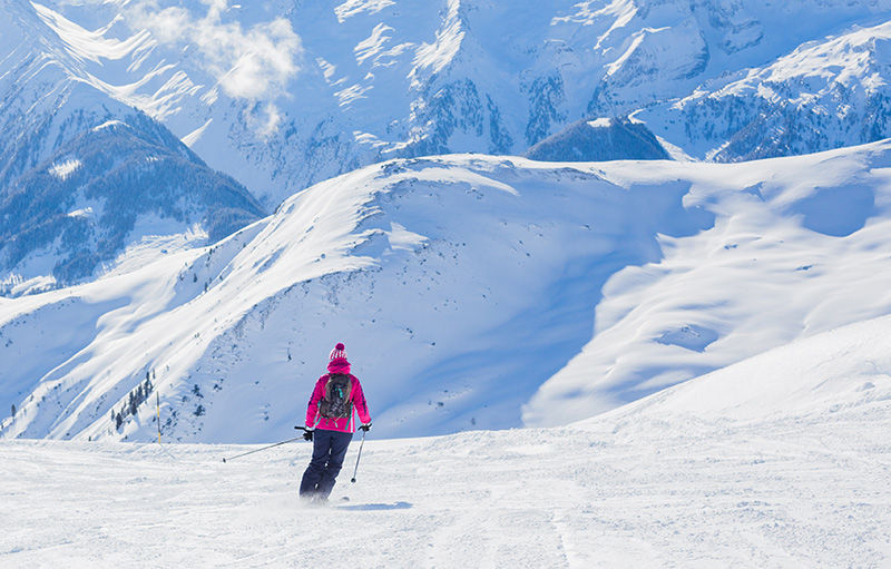 The Alpine skiing resort in Austria Zillertal Clickstay