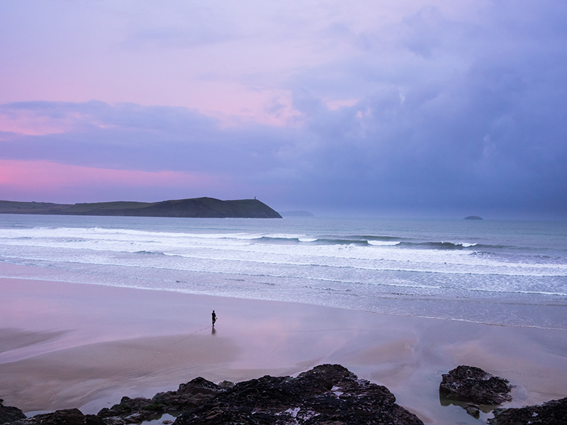 The Early Riser Polzeath Beach North Cornwall