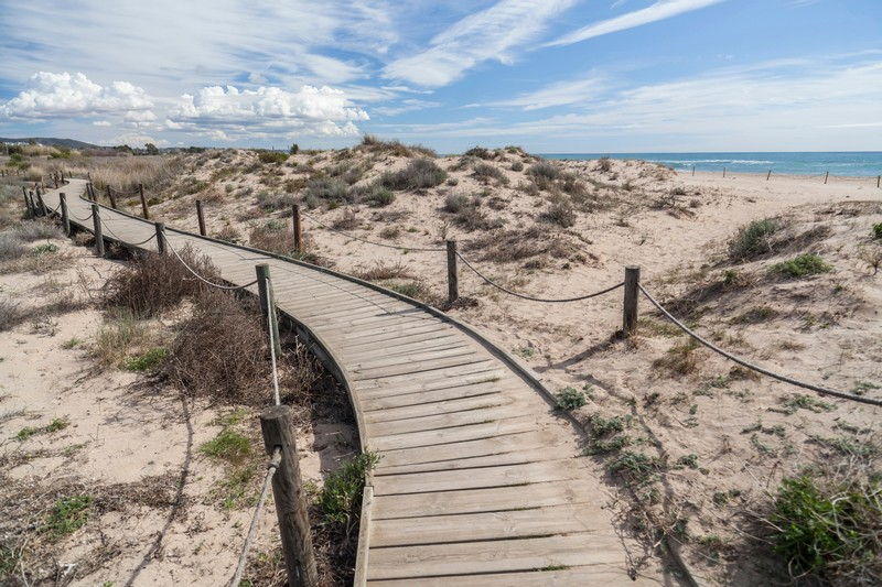 The dunes at Torredembarra near Barcelona