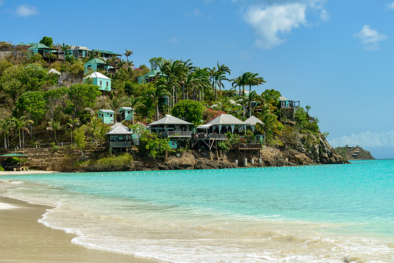 Tropical beach in Antigua
