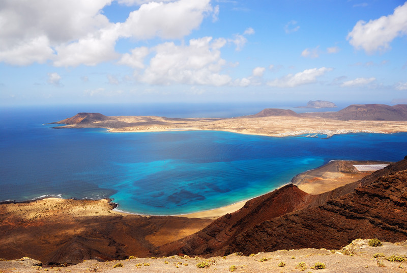 View on the Graciosa island Lanzarote