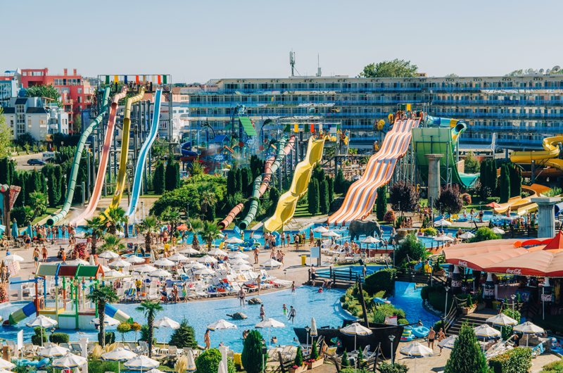 Waterpark in Sunny Beach, Bulgaria